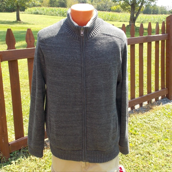 Tommy Hilfiger Sweaters Mens Sherpa Lined Sweater Jacket Xl Poshmark